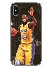 LeBron James Los Angeles Lakers Phone Case iPhone 5 5s SE 6 6SPlus 7 7Plus 8 8 Plus X
