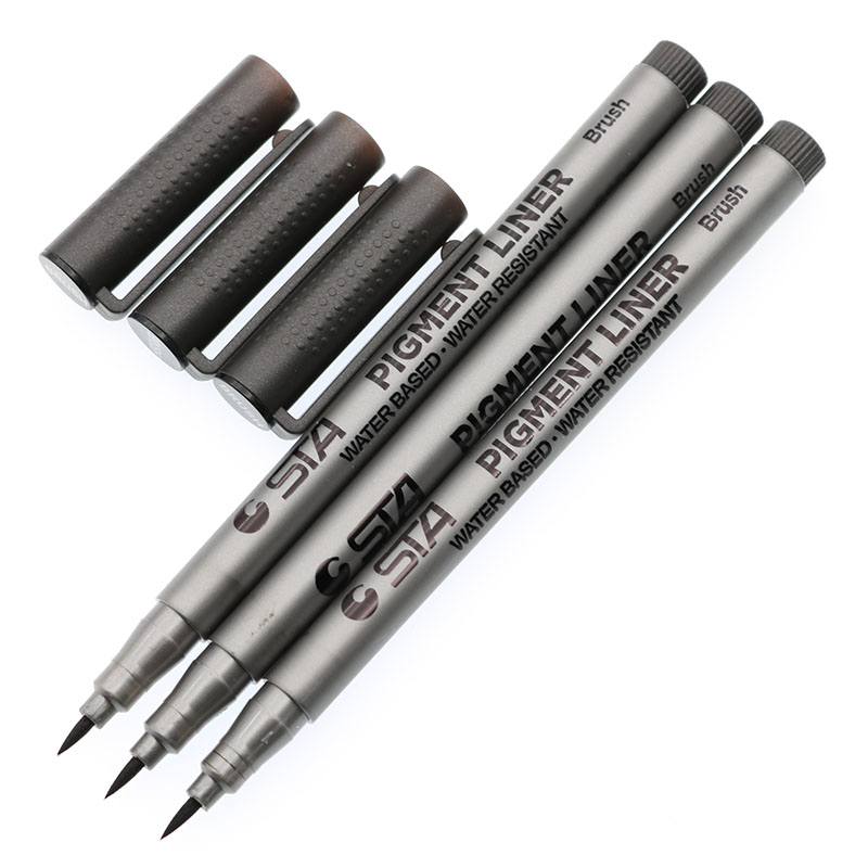 STA Brand High Quality Soft Pen Calligraphy School Supply Plastic Brushes Art Signature For Children'S Painting Stationery