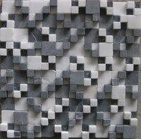 Cararra卸売立体背景壁石大理石モザイクタイルパターン装飾床地下鉄アートタイル、LSST028