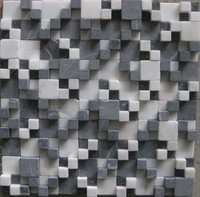 LSST028 Square Marble Stone Mosaic Square Mosaic Tiles