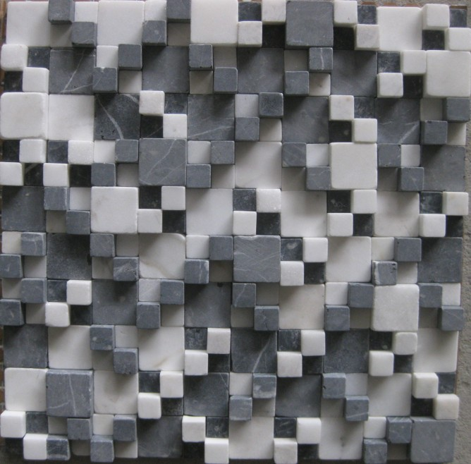 Buy cararra wholesale three dimensional for Dimensional tile backsplash