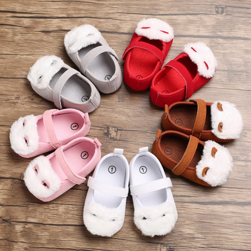 First-Walkers Furry-Design Shoes Soft-Soled Anti-Slip Toddler Baby-Girl Breathable Casual