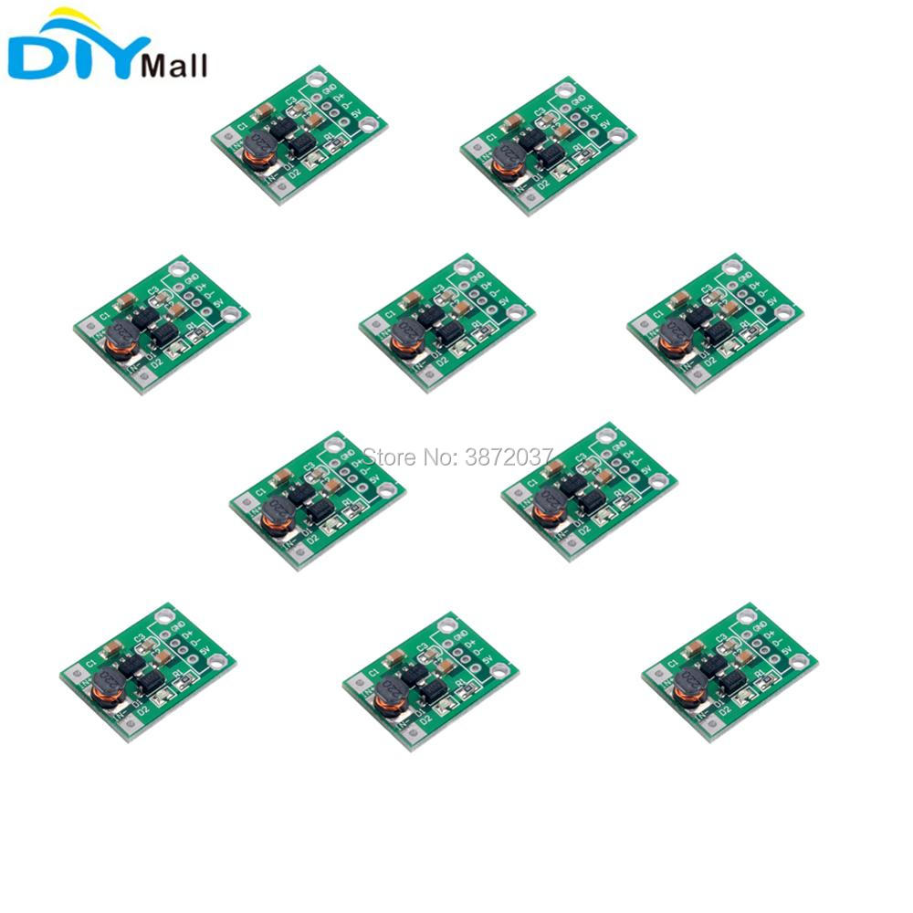 10pcs/lot DC-DC 1-5V to 5V 500mA Step Up Boost Module Converter Board for Arduino