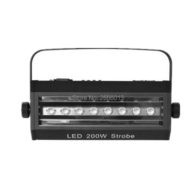 High brightness Led 200W Strobe Light For Party Disco DJ Bar Light Show stroboscope 200W Strong LED Flash Lights wedding lamp orico dhu3b bk usb3 0 to dvi hdmi external graphics for 6 computer screen extention black