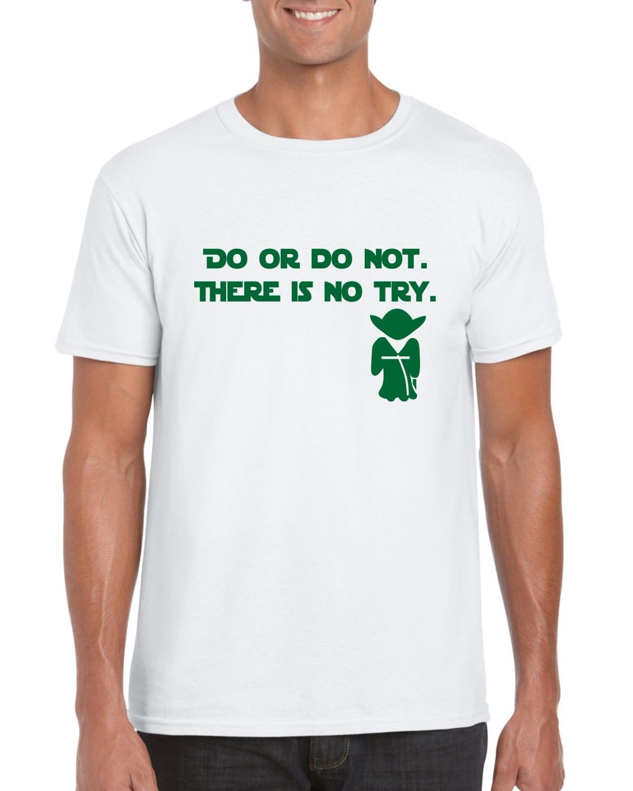 Do Or Do Not There Is No Try Yoda Inspired Quote Printed T-Shirt