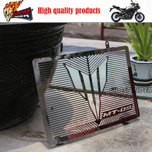 For YAMAHA MT 09 MT-09 Tracer 2015 Motorcycle Accessories Radiator Grille Guard Cover Protector SILVER