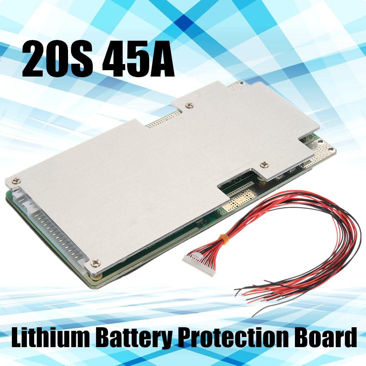 20 Chaîne 20 S 72 V 84 V 45A Au Lithium Li-ion Batterie Panneau de Protection BMS + Équilibre D-lumière-usine