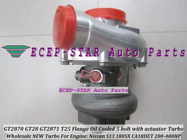 Freies Schiff GT2870 GT28 GT2871 T25 Flansch Wasser Gekühlt 5 bolzen Turbo Turbolader Für Nissan Motor S13 180SX CA18DET 200HP-400HP