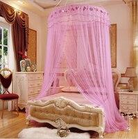 1 STÜCK Moskitonetz Prinzessin Stil Runde Spitze Insekt Bett  überdachung Filetarbeits Vorhang