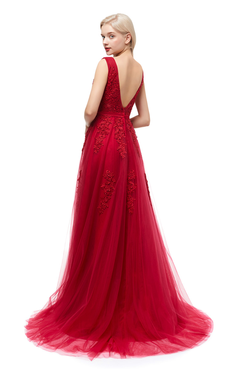 7bb9ae90dae21 Beauty Emily Robe De Soiree Lace Sexy Backless Long Evening Dresses 2019  Bride Banquet Elegant Floor Length Party Prom Dress