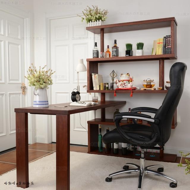 gratis verzending eenvoudige moderne houten meubel bureau computer bureau hoek boekenkast ikea factory outlets