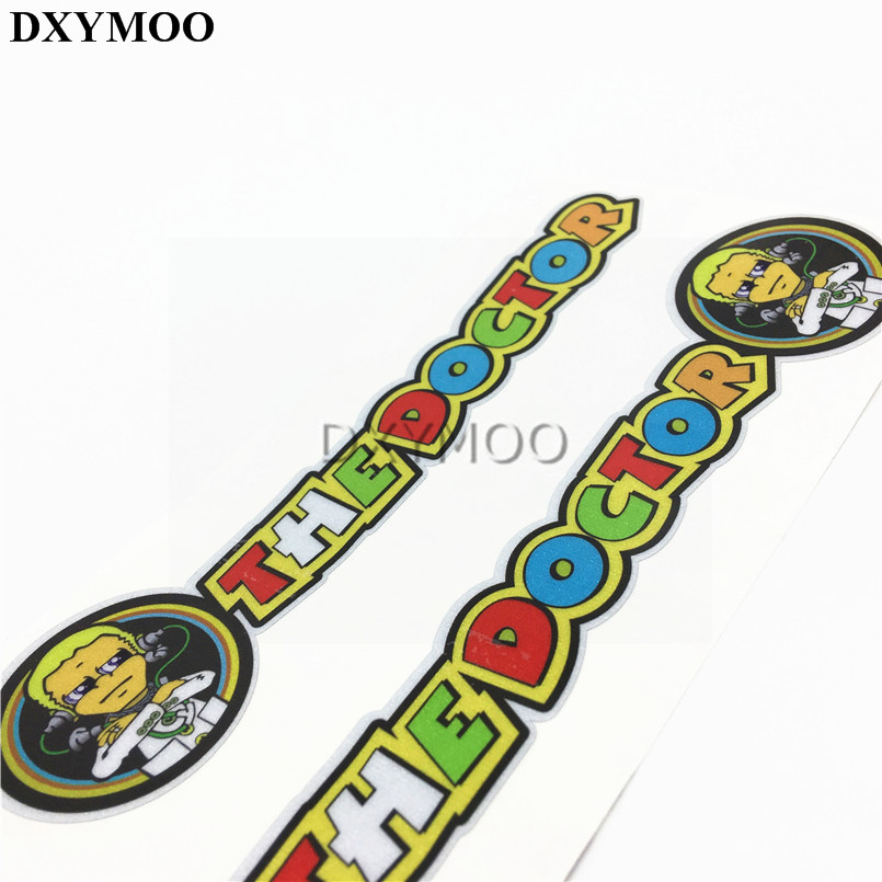 1 Pair Moto GO Racer Rossi 46 THE DOCTOR Motorcycle Sticker Auto Whole Body Door Window Sticker Decal Vinyl