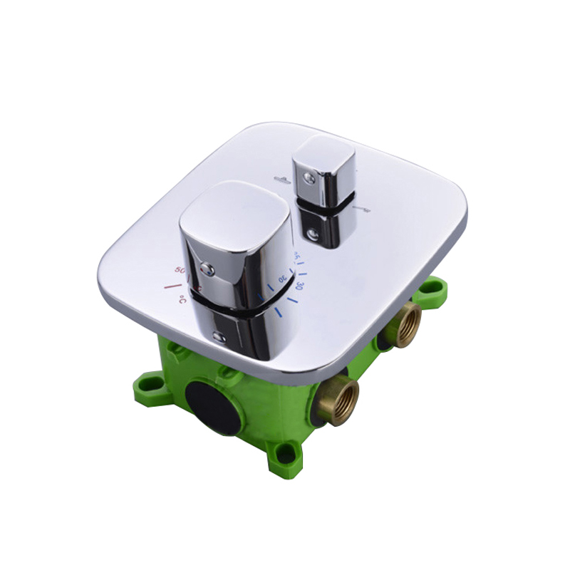Concealed Mounted MixerBrass Wall Box Mixing Valve Switch Valve Constant Temperature Shower Faucets Thermostatic Chrome 3 Ways electrical control box for small heating equipment for example wall mounted boiler and constant tempeaature machine
