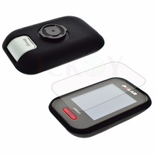 Outdoor Cycling Silicone Rubber Protect Black Case + LCD Screen Film Protector For Polar V650 GPS Accessories