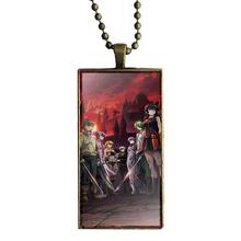 Akame Ga Kill Unisex Glass Pendant Bronze Plated Necklace Jewelry