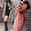 2016 New Women High-end Clothes Standing Collar Long-sleeved Woolen Coat Slim Was Thin Loose Long Section Of Thick Warm Coat