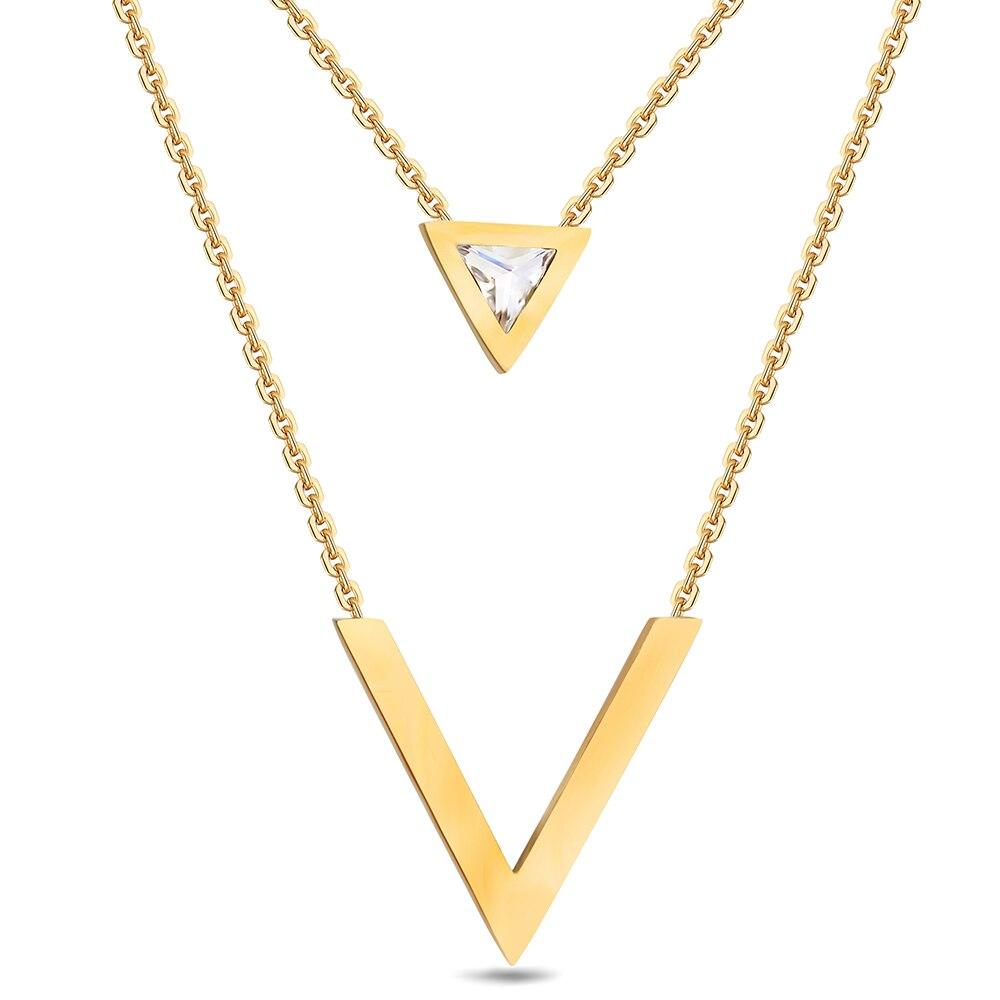 collier argent geometrique