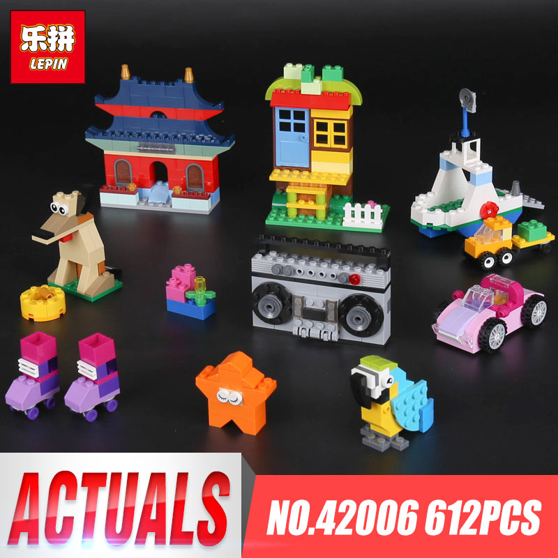 In stock Lepin 42006 612Pcs Creative Series The 10702 Creative Building Set Bricks Blocks Educational Funny Gifts Kid Toys Model in stock lepin 23015 485pcs science and technology education toys educational building blocks set classic pegasus toys gifts