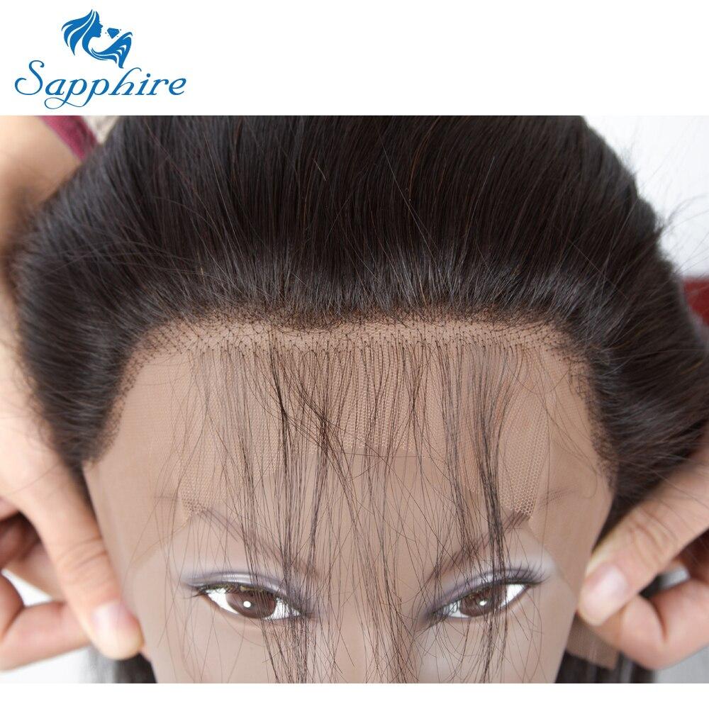 Sapphire Straight Remy Human Hair Bundles Med 360 Snörning Frontal - Barbershop - Foto 6