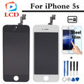 100% aaa qualidade para iphone 5s lcd touch screen digitador assembléia sem dead pixel ecrã a preto e branco frete grátis