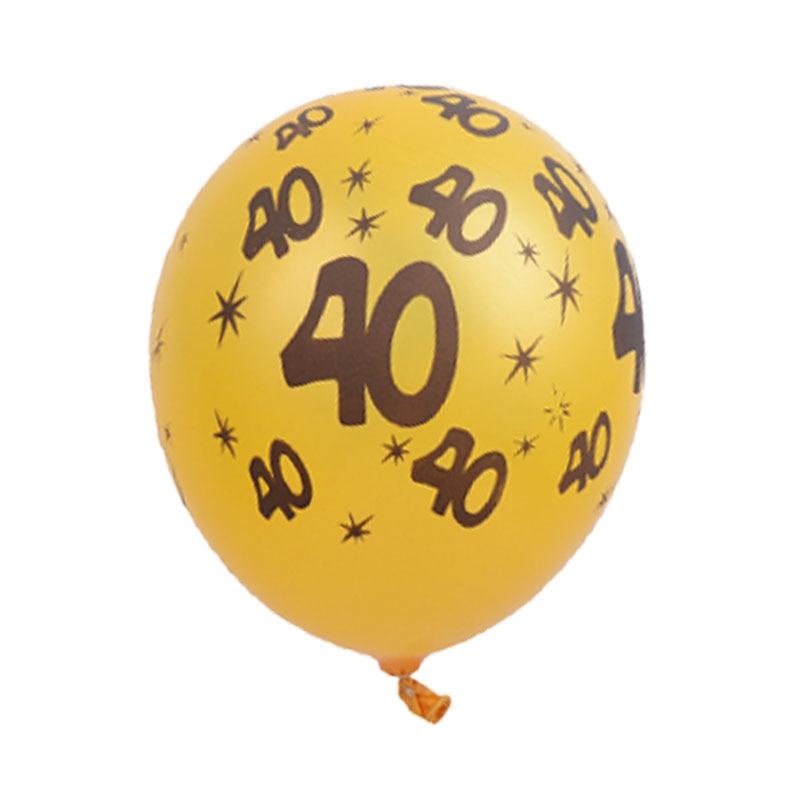 Tronzo 10pcs 12inch Happy Birthday Balloons Gold Black 30th