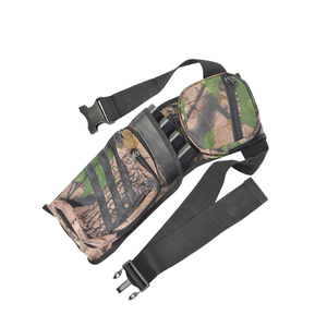 Image 3 - Archery Arrow Quivers Adjustable Belt Shoulder Strap 4 Tubes Camo Arrow Bags Training Hunting Shooting Bow And Arrow Accessories