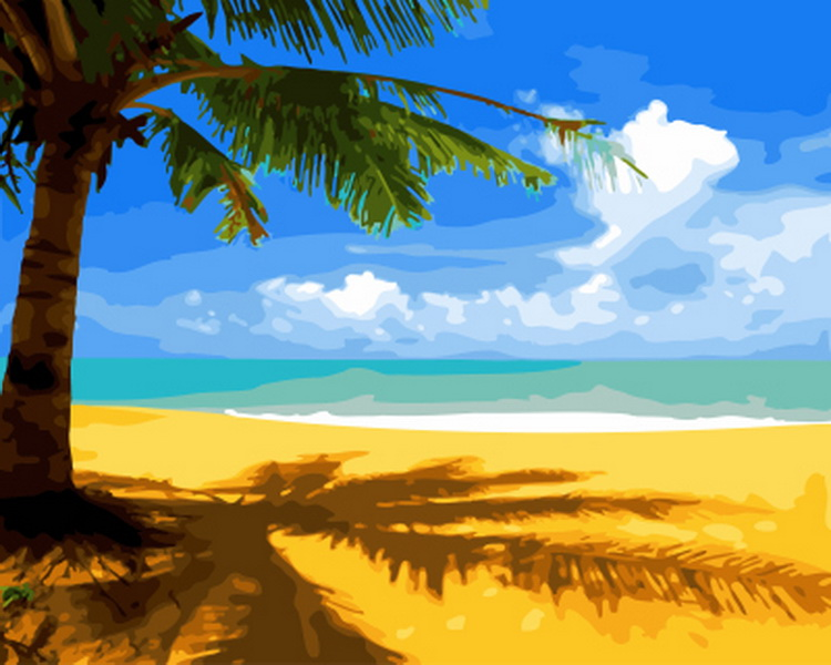 Frameless painting by numbers paint by numbers for home decor PBN for living room 4050 beach
