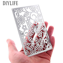 New Butterfly square Shaped Die Cutters For scrapbooking DIY Decorations Paper Craft Tool Cutting Template