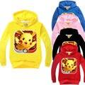 Niños Niños Bebés Niñas Pokemon Sudadera Chaqueta Suéter Tops Sudaderas Con Capucha Escudo Trajes