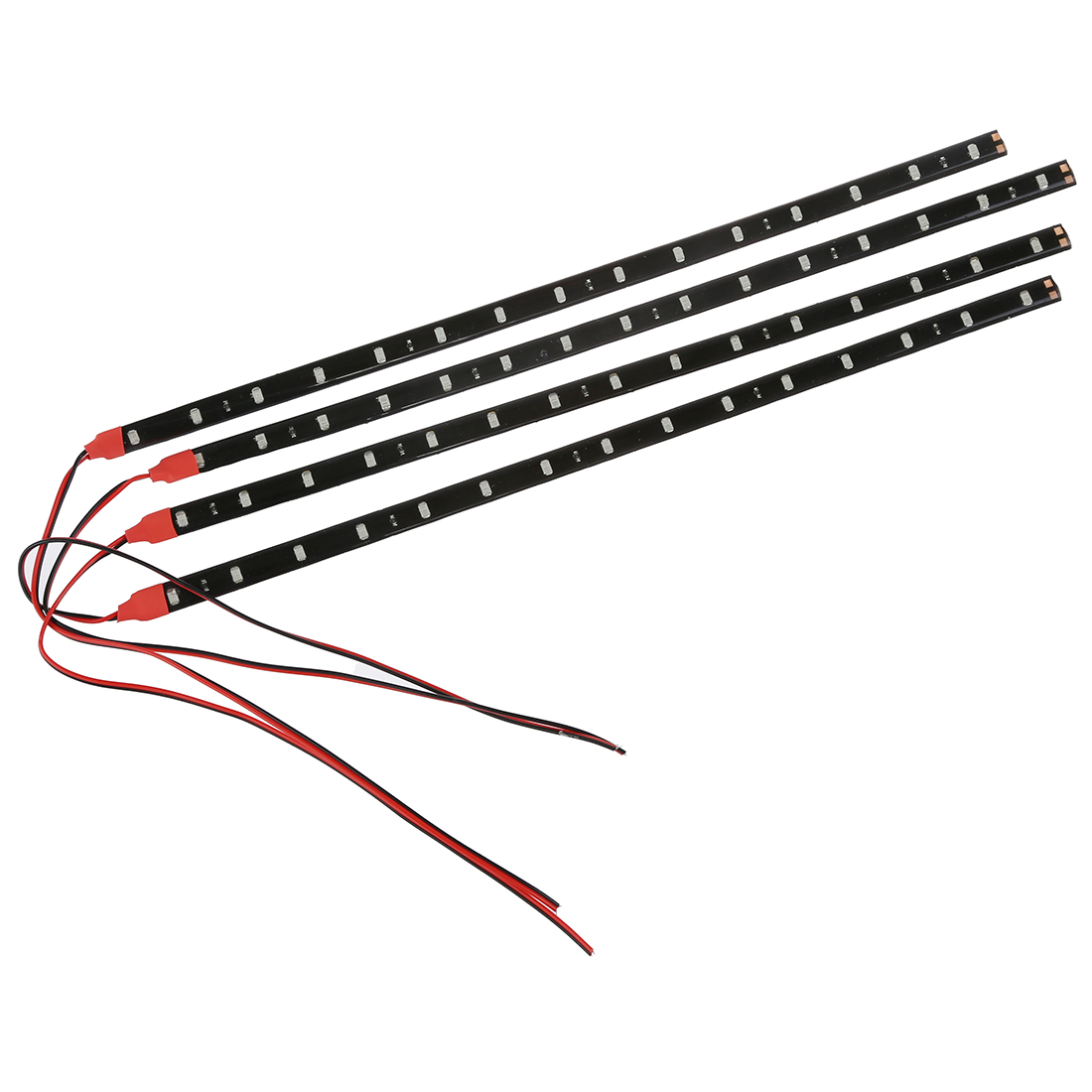 4 X Adhesive Strips15 Led 30cm 12v Waterproof Flexible