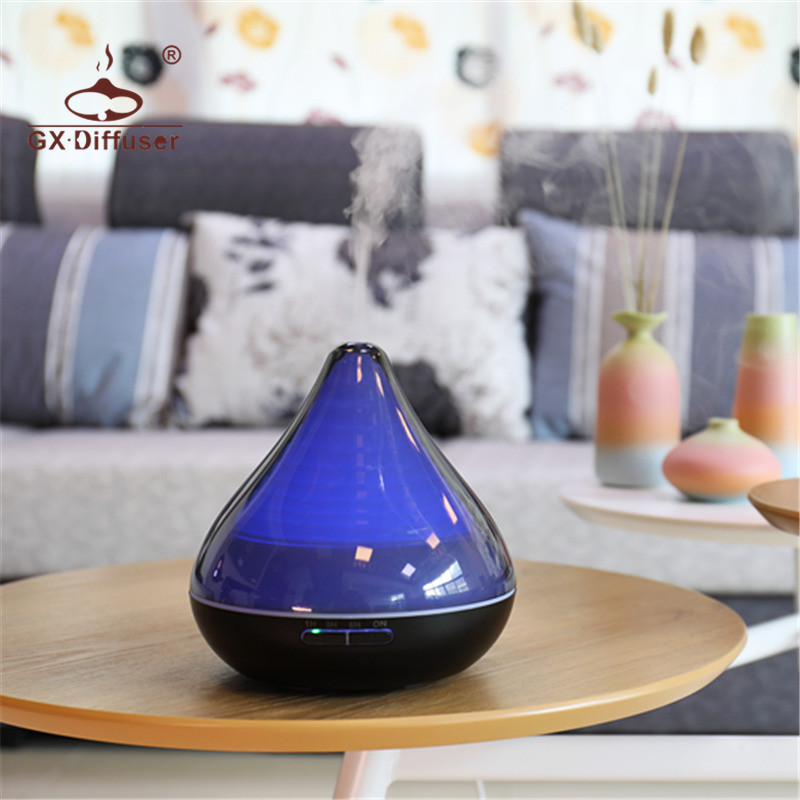 GX.Diffuser Essential Oil Nebulizing Diffuser Humidifiers AromaDiffuser Humidifier Aromatherapy Humidifiers Air Purifier Home 2017 infrared induction aroma diffuser diffuser aromatherapy essential oil smiley daisy nebulizing oil diffuser for home offic