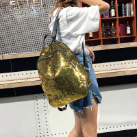 2019 New Sequins Backpack New Teenage Girls Fashion Bling Rucksack Students School Bag with Pencil Case Clutch Mochilas