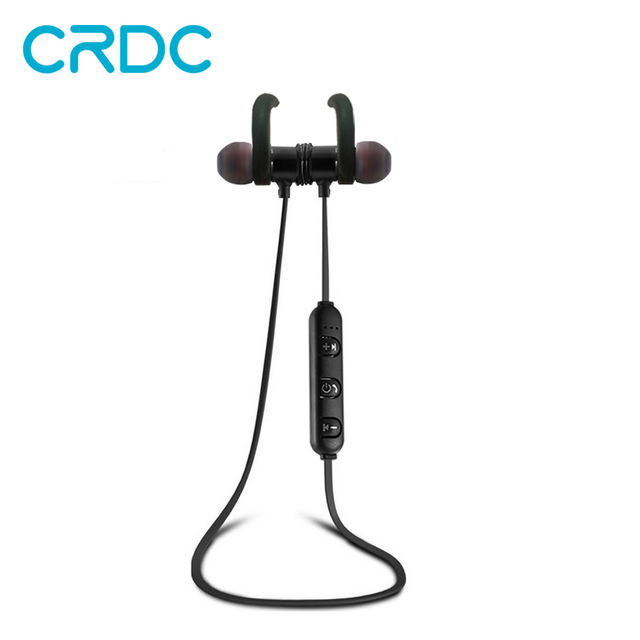 CRDC Wireless 4.1 Bluetooth Sport Earphone Headphones Magnetic Clasp Secure-fit Headset Wireless Stereo Noise Reduction with Mic