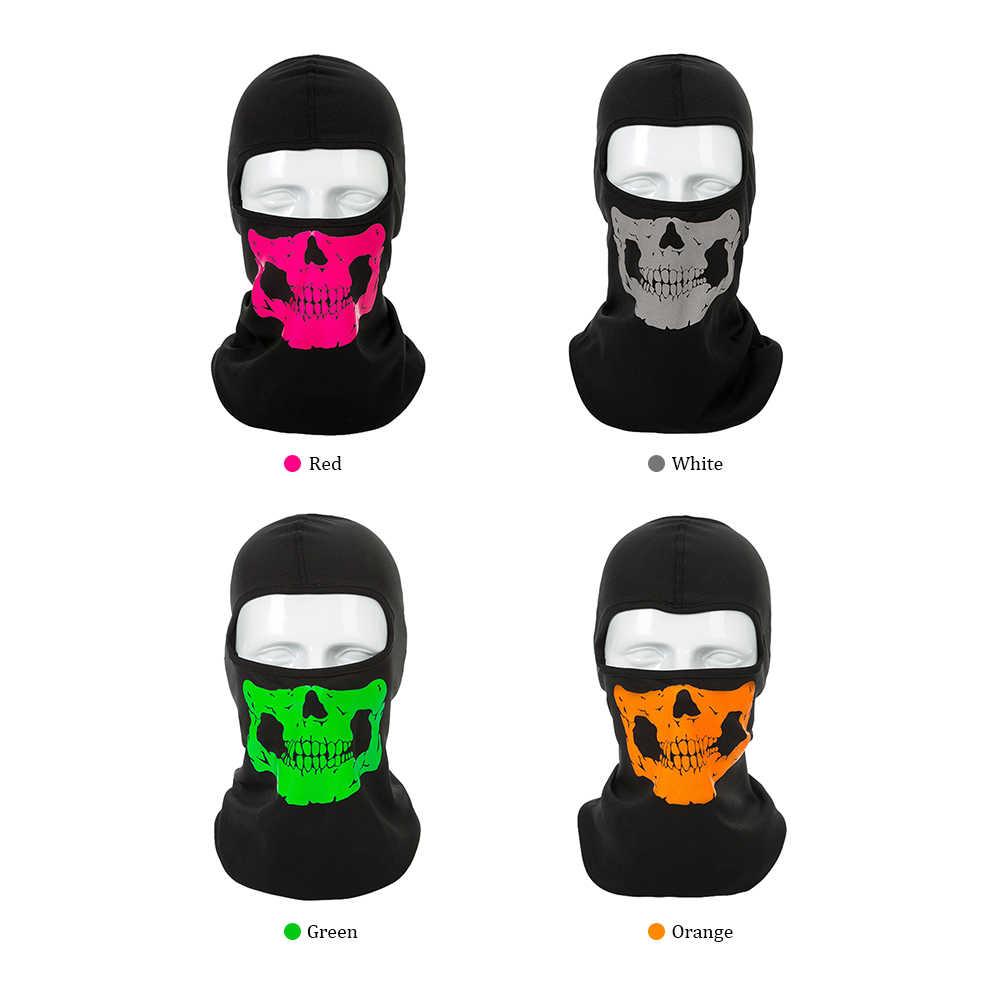 Велосипедная маска шляпа мотоциклетная маска для лица головной убор человеческая Кость Маска для лица полное лицо мотоциклетная маска велосипедиста снегоход Балаклава для шеи