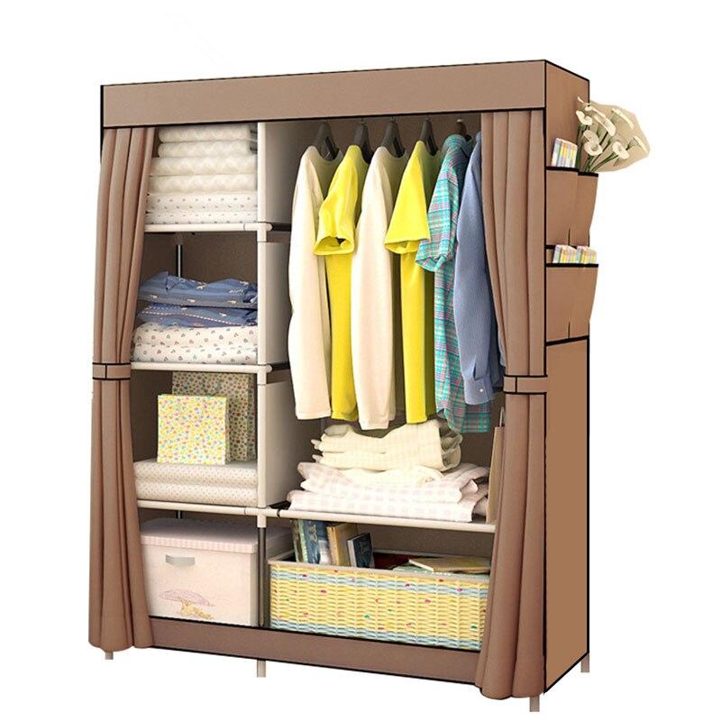Schlafzimmer Kleiderschrank vlies Stoff Falten Tuch Ward Lagerung Montage Schrank Große Größe Verstärkung Kombination