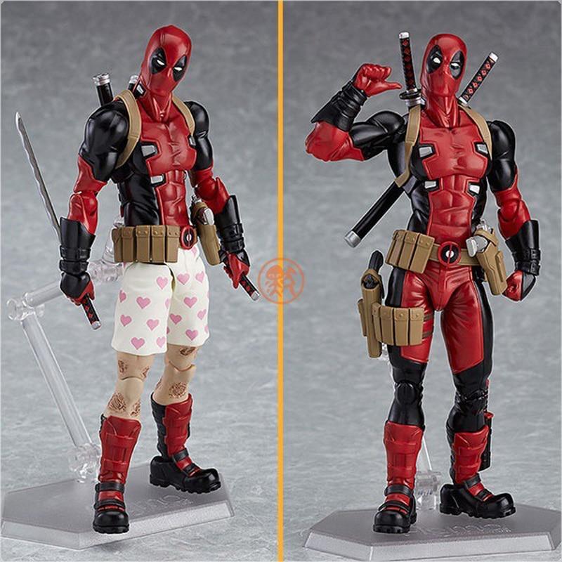 Figma EX-042 Marvel Super Hero Deadpool Action Figure PVC Doll Toys 14cm