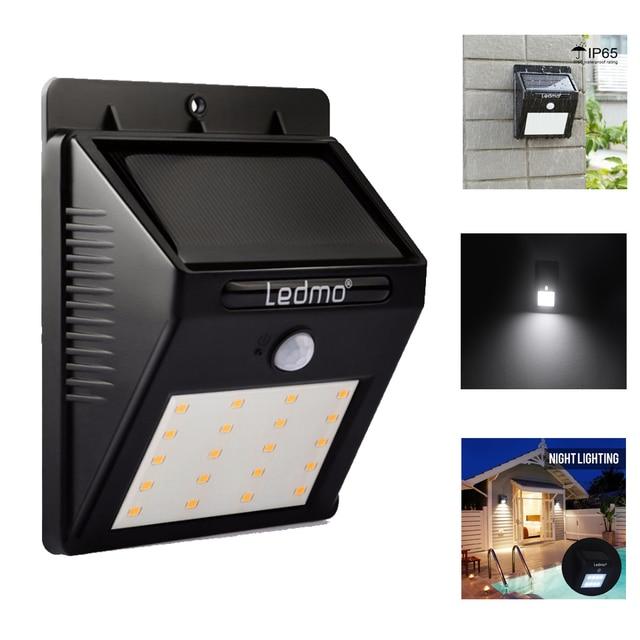 16leds 20leds Solar Lamp PIR Motion Sensor Light Solar Panels Street Garlands Nice Pathway Waterproof Solar Led Light For Garden