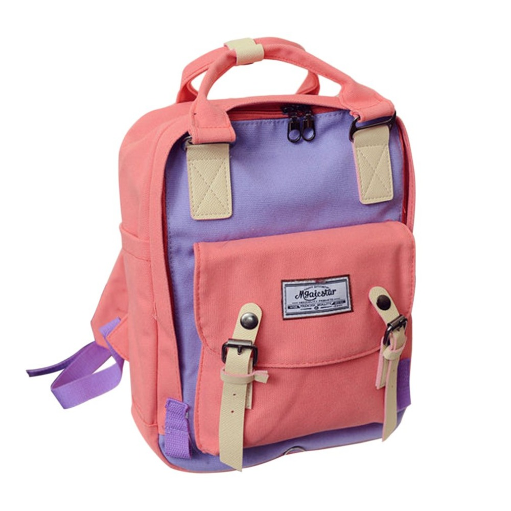 Women Canvas Backpack Hand bags Travel Backpack Student School Bags Large Capacity Adjustable Shoulder Strap For Girl Teenager