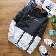 Мужская Летняя ветровка HCXY 2019, Мужская Солнцезащитная одежда, пальто, куртки, Мужская тонкая легкая Лоскутная куртка с капюшоном, верхняя одежда