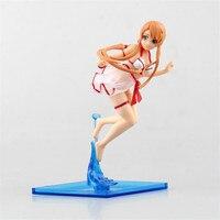 WVW 17 cm Sıcak Satış Mayo Sword Art Online GGO Yuuki Asuna Modeli PVC Oyuncak Action Figure Dekorasyon Koleksiyonu Için hediye