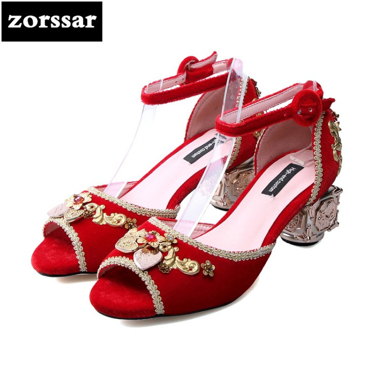 {Zorssar} 2018 New Ankle Strap Heels Women Sandals Summer Shoes Women Open Toe High Heels Party Dress Sandals Big Size 34- 43 new 2016 sexy gladiator ankle straps high heels fashion brand women sandal summer mixed colors open toe sandalias big size 34 43