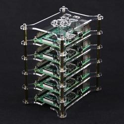 For Raspberry Pi 4 Acrylic Case 1-5 Layers Stackable Dog Bone Box Clear Enclosure Fits Raspberry Pi 3 Model B 3B Plus 2B 4B