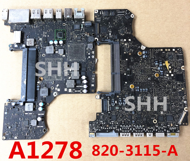 """2012 年欠陥ロジックボード修理 13 """"A1278 修理 820 3115 B 820 3115 MD101 MD102"""