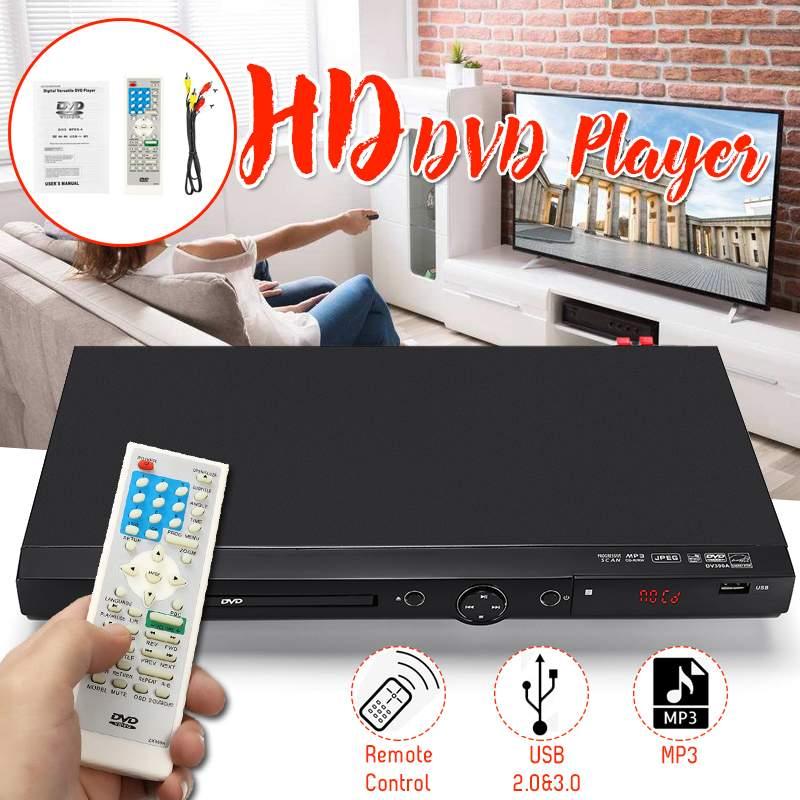 Ménage 1080 P USB Full HD lecteur DVD région lecture Multiple DIVXs DVD CD RW lecteur LED lecteur d'affichage DVD MP3 pour réunion