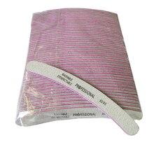 50Pcs/lot Sandpaper Nail File 80/80 Professional Manicure Nail Buffer Pedicure Buffing Sanding Files Gel Poolish Tool Wholesale