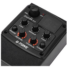 Cherub G-Tone GT-5 Acoustic Guitar Preamp Piezo Pickup 3-Band EQ Equalizer LCD Tuner with Reverb/Chorus Effects