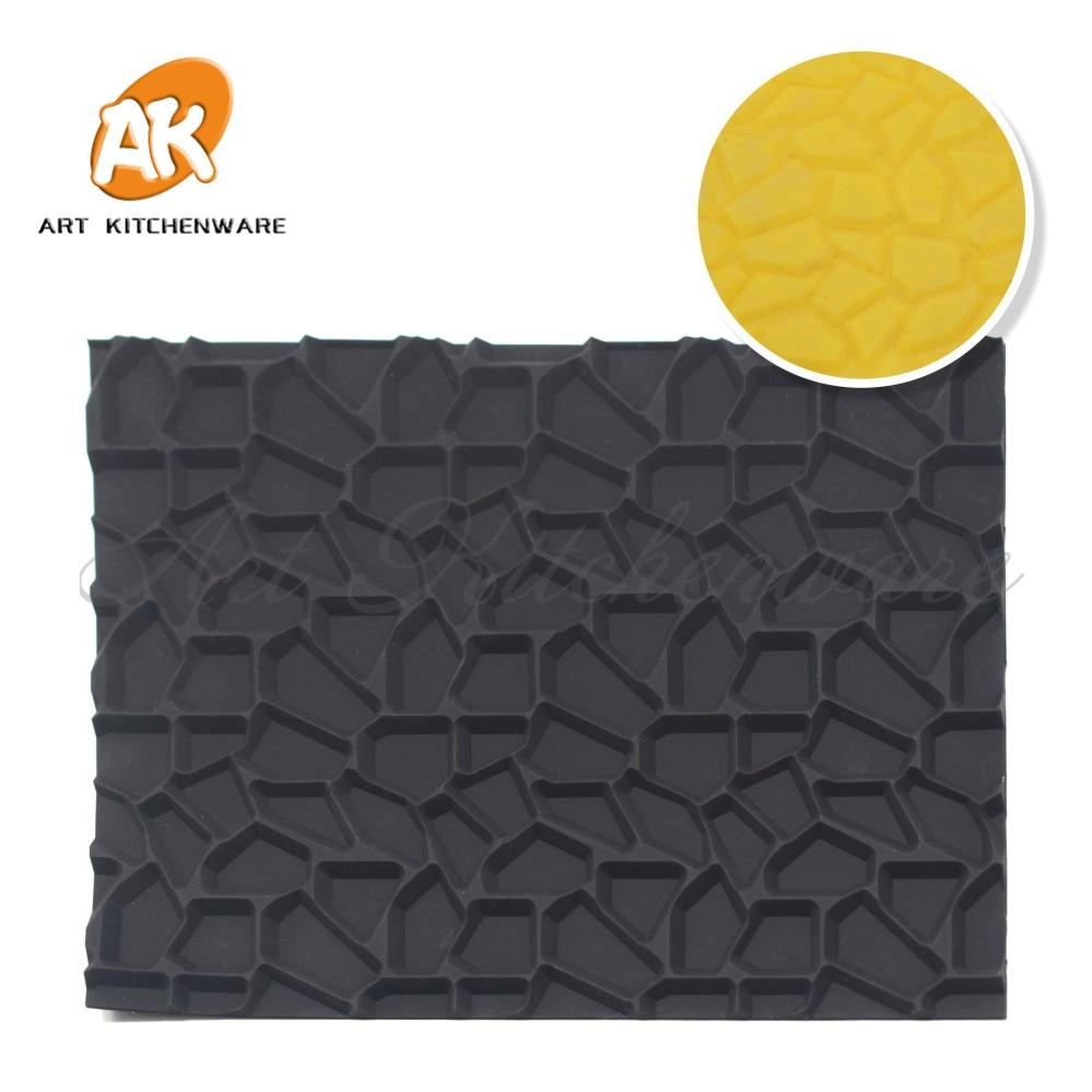New diy silicone impression mat cake mousse mat crack - Impression gateau ...