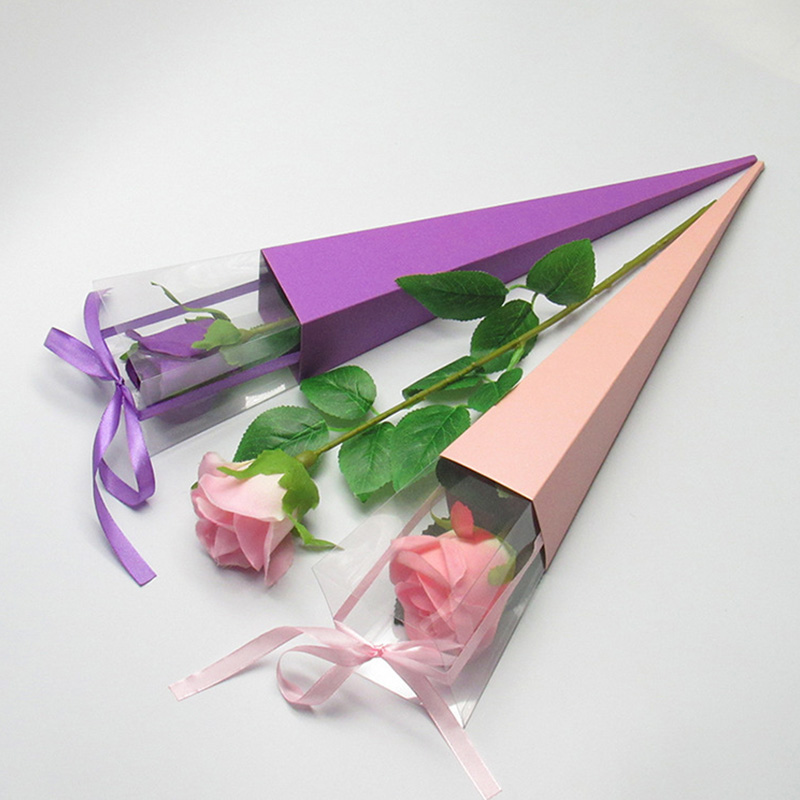 10pc Valentine's Day Gift Box Single rose flower box holiday custom gift box flowers package