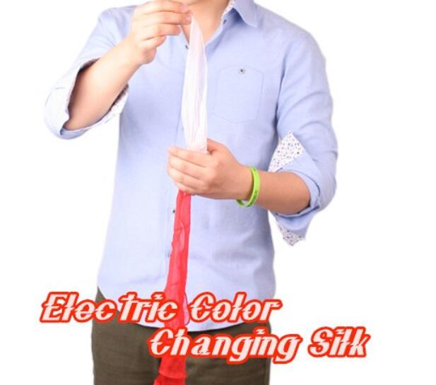 Electric Color Changing Silk Magic Tricks Professional Device Stage Illusion Gimmick Props Scarve Comedy Mentalism ring illusion magic tricks stage disappearing mentalism gimmick accessories professional magicians