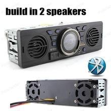 AV252 Встроенный 2 динамика MP3 плеер 12 В FM USB SD AUX IN аудио автомобиля Радио Bluetooth Handfree в тире стерео